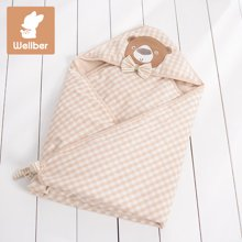 威尔贝鲁 纯棉宝宝包被 婴儿抱被新生儿包巾春秋夏季薄款襁褓毯子