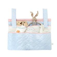 蒂乐婴儿床挂袋表层纯棉尿布袋床头多功能收纳袋