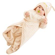 蒂乐春夏薄款双层彩棉婴儿分腿抱被
