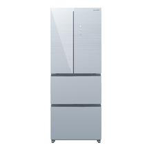 夏普(SHARP) BCD-423WFXC-S 423L 静音变频 风冷无霜 速冷速冻 四门冰箱 (潋滟银)
