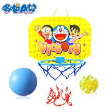 港版哆啦a梦 儿童运动篮球架连粘球游戏