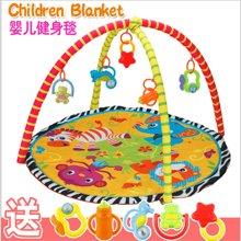 小才童婴幼儿爬行垫游戏垫毯宝宝儿童游戏垫健身架游戏毯81252JDK