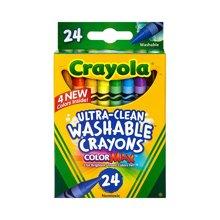 【美国】Crayola绘儿乐 24色可水洗蜡笔绘画笔涂鸦笔无毒 3岁以上