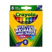 【美国】Crayola绘儿乐 8色可水洗大蜡笔 2岁以上