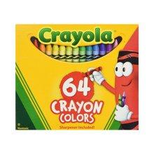【美国】Crayola绘儿乐 64色标准普通蜡笔 3岁以上