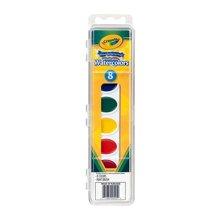 【美国】Crayola绘儿乐 8色幼儿童绘画固体水彩颜料可水洗带画刷 3岁以上