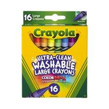【美国】Crayola绘儿乐 16色儿童大蜡笔 可水洗无毒 2岁以上