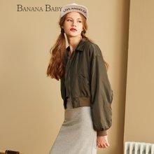 BANANA BABY新款韩版棒球服女休闲长袖外套短夹克上衣潮D63W083