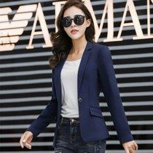 亿族 2017春秋装新款韩版长袖女士西服修身大码休闲西装外套 YZ9822