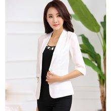 亿族 2017春夏装新款韩版大码女士休闲西服七分袖西装外套 YZ1601