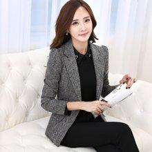 亿族  2017春秋装新款韩版修身显瘦职业小西服女长袖西装外套 YZ831