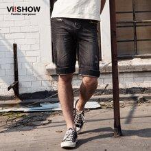 viishow夏装新款牛仔短裤男 欧美深色牛仔短裤五分裤中裤潮ND14152