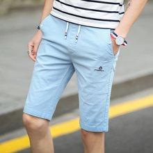 卓狼休闲短裤男士舒适休闲直筒五分裤2017夏季新款男装5分裤子K7011GT