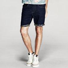 Kuegou 男士短裤 男牛仔短裤 夏季短牛仔裤 五分裤中裤8356