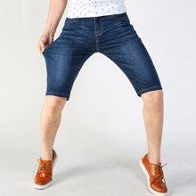 花花公子贵宾 2018夏季新款薄款弹力五分裤男士中裤大码牛仔裤短裤 VIP282