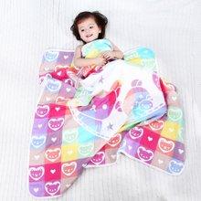 Marvelous Kids 6层婴幼儿棉纱双面印花盖毯多功能被120*115cm