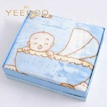英氏 蓝色男宝宝加厚保暖绒毛毯礼盒(150*125CM) 154480