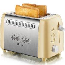 烤面包机家用早餐吐司机2片迷你全自动多士炉Bear小熊 DSL-A02W1