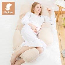 威尔贝鲁 孕妇枕头护腰侧睡枕u型枕多功能侧卧枕睡枕用品冬托腹