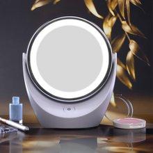 达宝恩 Artiart 创意化妆镜带灯LED 双面旋转台式镜子宿舍书桌随身简约 高清镜面 自然光线 还原真实美肌
