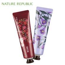 纳益其尔Nature Republic自然护肤乐园手与自然护手霜30ml*2 玫瑰 茉莉