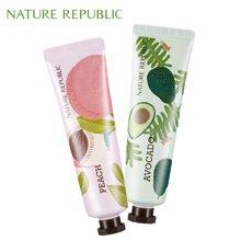 纳益其尔Nature Republic自然护肤乐园手与自然护手霜30ml*2 水蜜桃 鳄梨