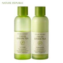 Nature Republic纳益其尔(自然护肤乐园)绿茶水乳套装180ml*2