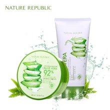 Nature Republic纳益其尔(自然护肤乐园)芦荟清洁补水两件套