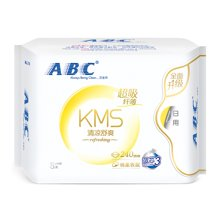ABC日用纤薄棉柔卫生巾(KMS)NC1(8片)