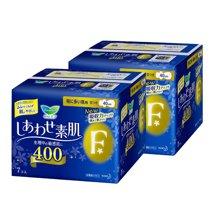 【2包装】日本花王 F系列 棉柔卫生巾 夜用 带护翼(蓝底黄花)40cm*7