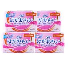 【4包装】日本尤妮佳苏菲日用卫生巾23cm* 24片/包