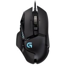 罗技(Logitech)G502 炫光自适应游戏鼠标 RGB鼠标  游戏鼠标中的明星之作  1680万色自定义RGB指示灯