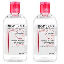 贝德玛(Bioderma)深层卸妆洁肤水(红) 清爽 温和 500ml*2瓶装
