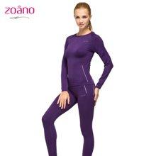 zoano佐纳特价女户外内衣套装速干排汗运动内衣套装抗静电紧身健身服女