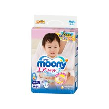 日本Moony尤妮佳 婴儿纸尿裤(M64片)