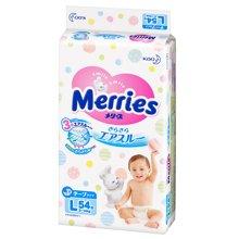 日本Merries花王婴儿纸尿裤(L54片)