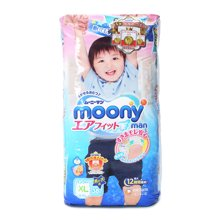 Moony婴儿裤型纸尿裤(男)XL(38片)