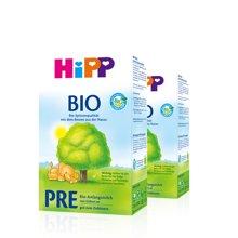 德国Hipp Bio喜宝有机新生儿奶粉Pre段(0-3个月宝宝)600g (2盒装)