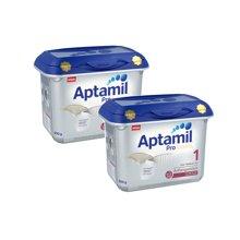2罐装 德国Aptamil爱他美奶粉白金版1段(0-6个月宝宝) 800g/罐