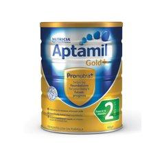 【2罐装】澳洲Aptamil爱他美金装婴幼儿奶粉2段(6-12个月宝宝)(900g/罐)