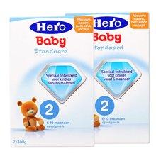【2盒装】荷兰Hero Baby奶粉2段(6-10个月宝宝)(800g)