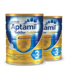 【2罐装】澳洲Aptamil爱他美金装婴幼儿奶粉3段(1-2周岁宝宝) 900g/罐