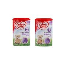 【2罐装】英国Cow&Gate牛栏婴幼儿配方奶粉2段(6-12个月宝宝 900g)新旧版包装随机发货
