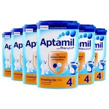 英国直邮 6罐 英国原装进口 爱他美Aptamil奶粉 4段 2-3岁使用 800g/罐