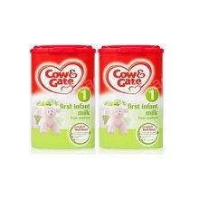 【2罐装】英国Cow&Gate牛栏婴幼儿配方奶粉1段(0-6个月宝宝 900g)新旧版包装随机发货