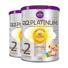 【2罐装】澳洲直邮 澳洲A2 Platinum白金婴儿奶粉 2段(6-12个月)900g/罐(新旧包装随机发货)