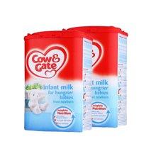 英国直邮 2罐 英国原装牛栏 0-12个月饥饿型 奶粉900g/罐