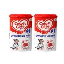 【2罐装】英国Cow&Gate牛栏婴幼儿配方奶粉3段(1-2周岁宝宝 900g)
