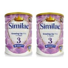 2罐装 英国皇冠雅培3段( 1-3岁)幼儿奶粉 850g/罐