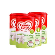 英国直邮 4罐 英国原装牛栏 1段 0-6个月 奶粉900g